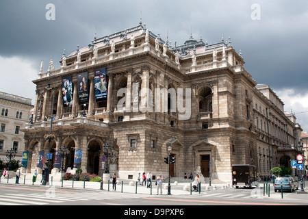 L'Opéra d'Etat de Hongrie - Magyar Állami Operaház - rue Andrássy Budapest Hongrie Banque D'Images