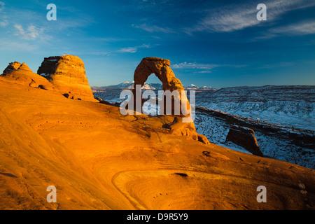 Delicate Arch, Arches National Park, Utah, USA Banque D'Images