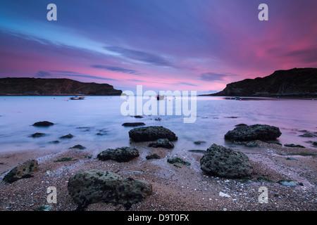 Crique de Lulworth Cove, sur la côte jurassique, Dorset, England, UK Banque D'Images