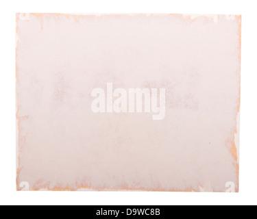 Vieille photo du bord du papier comme un cadre photo, isolated on white
