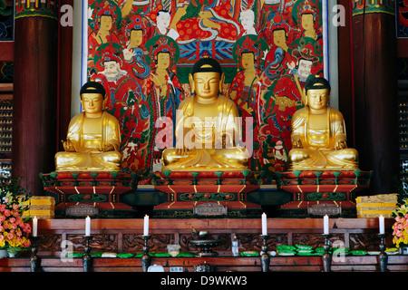 Bongeunsa Temple dans le quartier de Gangnam de Séoul, Corée du Sud Banque D'Images