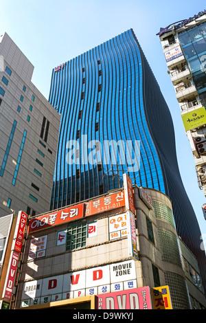 Architecture dans le quartier moderne de Gangnam-gu, Seoul, Corée du Sud, Asie Banque D'Images