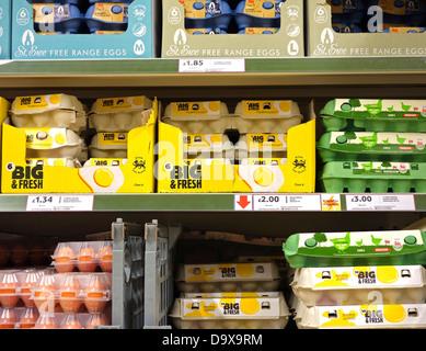 Les oeufs en vente dans un supermarché au Royaume-Uni