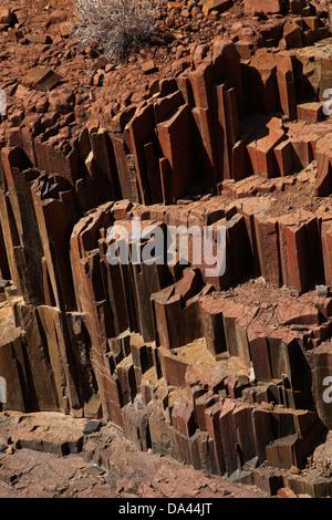 Tuyaux d'orgue rock formation, près de Twyfelfontein, Damaraland, Namibie, Afrique
