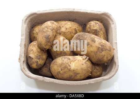Les pommes de terre dans une boîte Banque D'Images