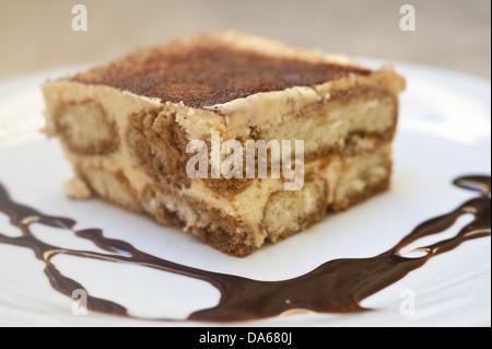 gâteau, tiramisu Banque D'Images