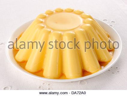 pudding à la vanille Banque D'Images