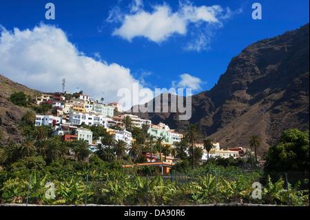 Les canaris, Europe, îles Canaries, La Gomera, Espagne, à l'extérieur, jour, personne, La Calera, Valle Gran Rey, Banque D'Images