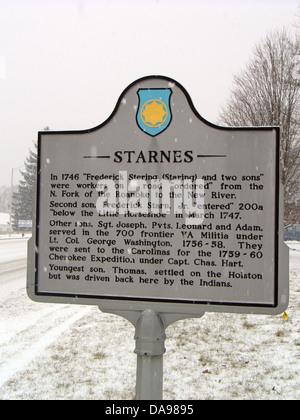 STARNES En 1746 'Frederick Stering (regardant) et deux fils' ont été les travailleurs sur une route 'commander' Banque D'Images