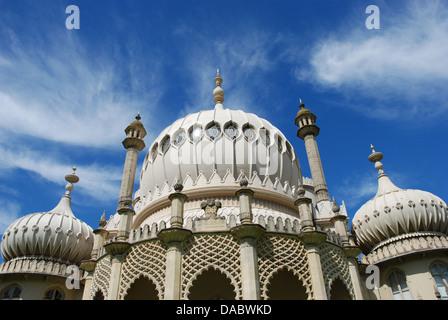 Vue inhabituelle de Brighton Pavilion Banque D'Images