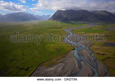 Portrait de la rivière glaciaire, le sud de l'Islande Banque D'Images