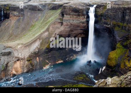 Haifoss - Sud de l'Islande Banque D'Images