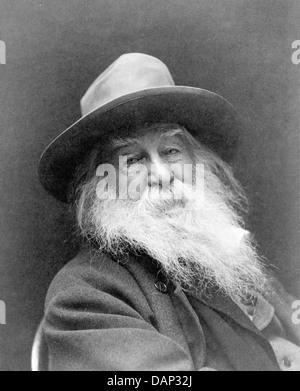 WALT WHITMAN (1819-1892) poète américain en 1887