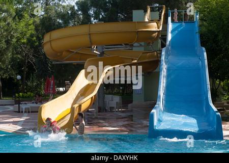 Türkei, Kemer, Moonlight Park, Rutschen für Familien Banque D'Images