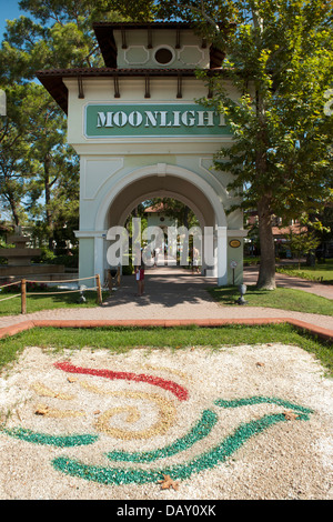 Türkei, Provinz Antalya, Kemer, Yürük-Park, Eingang zum Moonlight Park Banque D'Images
