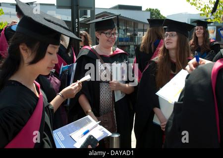 Le jour de la remise des diplômes de l'Université de Warwick, Royaume-Uni Banque D'Images