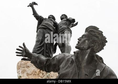 Le Monument des Martyrs, des héros de l'indépendance libanaise, dans le centre de Beyrouth, Liban Banque D'Images