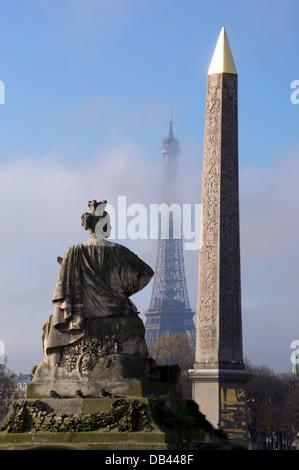 Europe, France, Paris, Place de la Concorde Banque D'Images