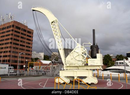 Grue à vapeur Patrimoine Hobart Constitution Dock Banque D'Images