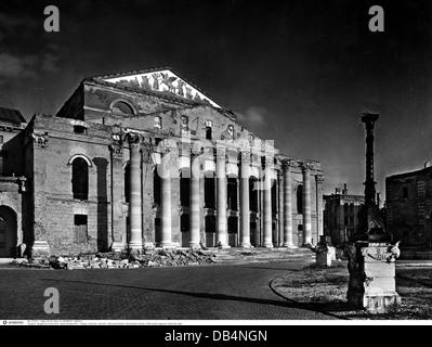 Géographie / Voyage, Allemagne, Munich, période de l'après-guerre, théâtre national (théâtre royal), vue extérieure, détruit, 1945, droits supplémentaires-Clearences-non disponible