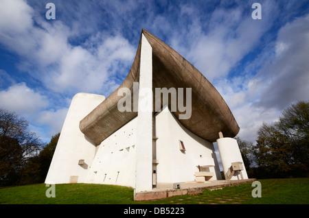 La chapelle Notre Dame du haut à Ronchamp Banque D'Images