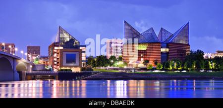 Le centre-ville de Chattanooga, Tennessee, USA. Banque D'Images