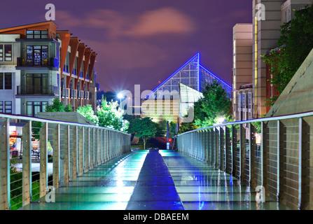 Scène urbaine au centre-ville de Chattanooga, Tennessee, USA. Banque D'Images