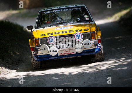Chichester, UK - Juillet 2013 : Talbot Sunbeam Lotus en action sur le rallye à l'honneur à la Goodwood Festival Banque D'Images