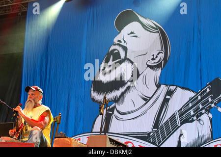 Festival Optimus Alive Seasick Steve en Alges - Jour 2 Alges, Portugal - 07.07.11 Banque D'Images