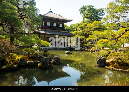 Kannon-den structure dans le temple Ginkaku-ji Temple Zen, UNESCO World Heritage Site, Kyoto, Japon, Asie Banque D'Images