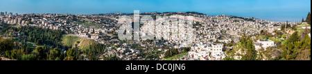 Le Mont du Temple, également connu comme le Mont Moriah à Jérusalem, Israël. Il est situé dans la vieille ville Banque D'Images