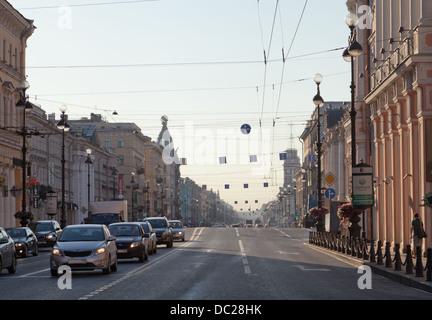 Nevsky Prospect, Saint-Pétersbourg, Russie. Banque D'Images