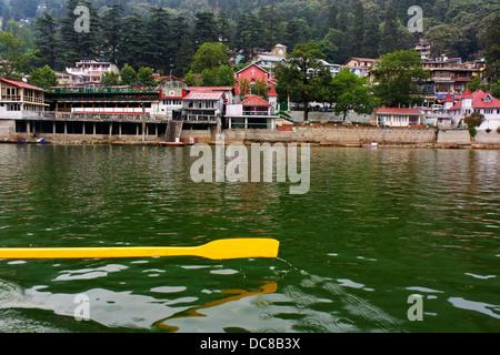 Point de navigation de plaisance, l'Inde de Nainital. Banque D'Images