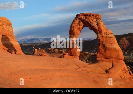 La Delicate Arch dans Arches National Park, Utah, USA Banque D'Images