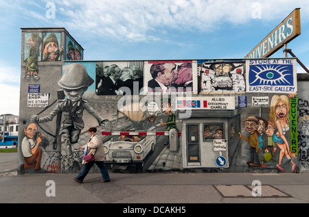 East Side Gallery, mur de Berlin (Berliner Mauer), Allemagne Banque D'Images