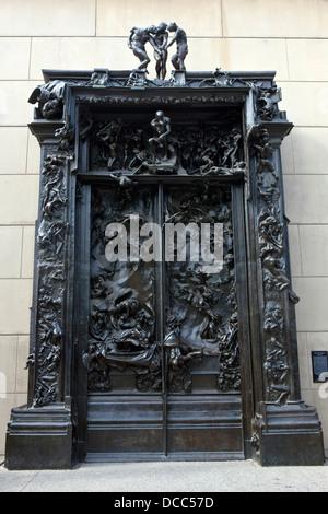 Portes de l'enfer, 1880-1900, Auguste Rodin sculpture, Stanford, Californie, États-Unis d'Amérique Banque D'Images