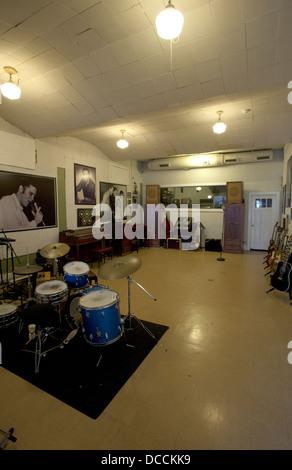 Intérieur de Sun Studios de Memphis Tennessee USA Banque D'Images