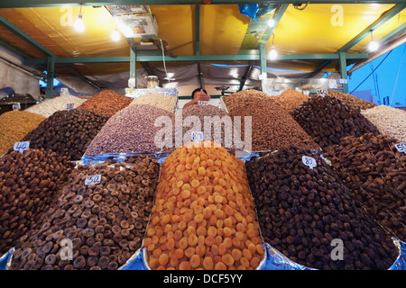 Dates marocain à Marrakech Souk; Marrakech, Marrakech, Maroc Banque D'Images