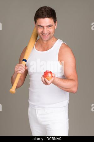 Image conceptuelle de style de vie avec une alimentation saine et du sport Banque D'Images