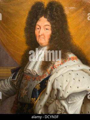 18e siècle - Louis XIV, roi de France - Andry après Hyacinthe Rigaud 1705 - Musée de l'armée de l'huile sur toile Banque D'Images