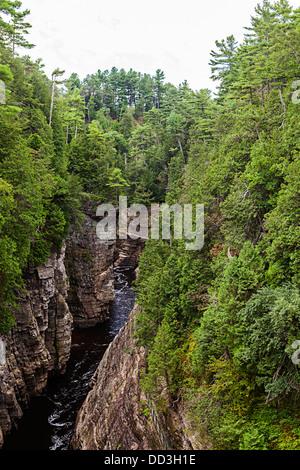 Canyon de la rivière Ausable chasm Banque D'Images