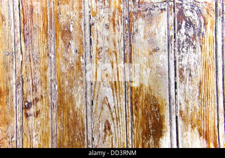 Vieille planche en bois avec de la peinture de fond. Banque D'Images