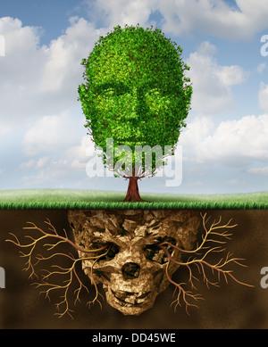 La renaissance et le renouvellement du concept de vie comme un symbole de secondes chances et la croissance personnelle Banque D'Images