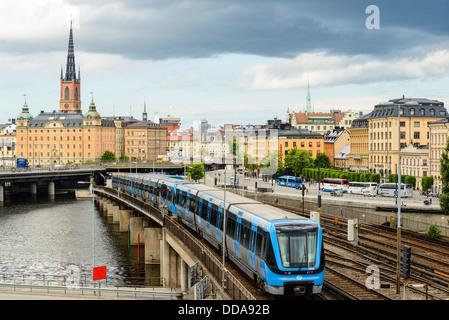 Métro (T-Bana) train à Stockholm en Suède