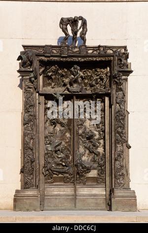 Les portes de l'enfer d'Auguste Rodin, Musée Rodin, Paris, Ile de France, France Banque D'Images