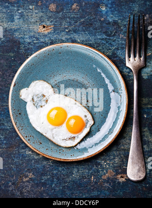 Un petit-déjeuner traditionnel oeufs Banque D'Images