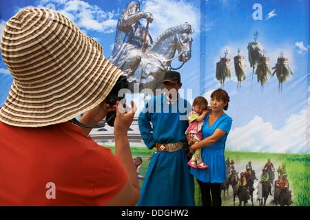 La Mongolie, province Arkhangai, Lantern Festival, photographe local Banque D'Images