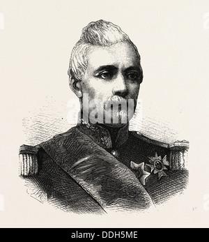 La guerre franco-prusse: Ernest Louis Octave Courtot de Cissey, 1810 1882, était un général français Banque D'Images