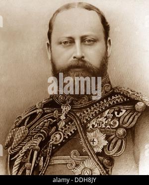 Le roi Edouard VII au début des années 1900, portrait Banque D'Images