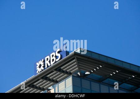 Un immeuble de bureaux occupé par Royal Bank of Scotland (RBS). Banque D'Images